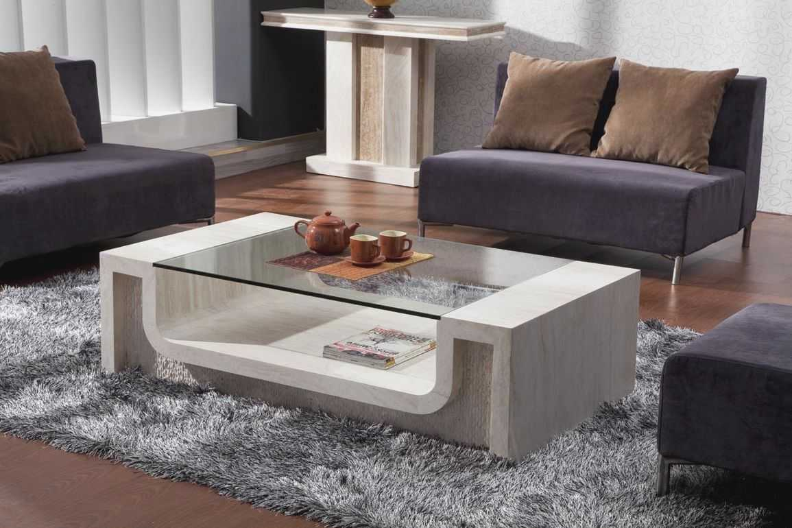 Wooden Sofa Adds With A Designer Table: