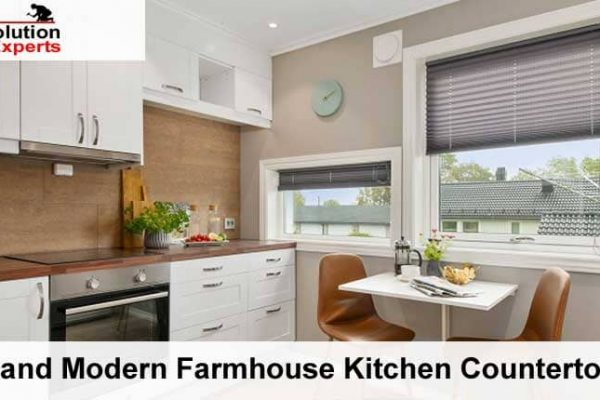 3 Fresh and Modern Farmhouse Kitchen Countertop Ideas.