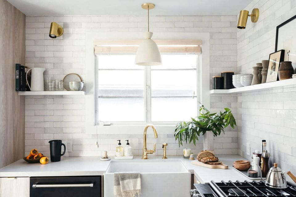 Whimsical Kitchen Counter Tile.